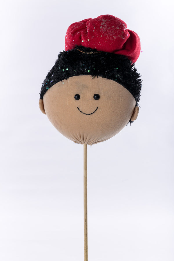 """Baltasar"" w red hat on wood stick - 9"" - Casa Febus - Home • Design"