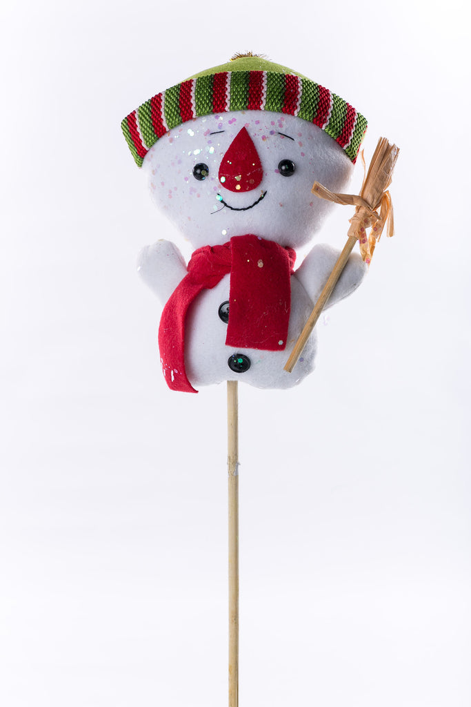 "Snowman on Wood Stick - 9"" - Casa Febus - Home • Design"