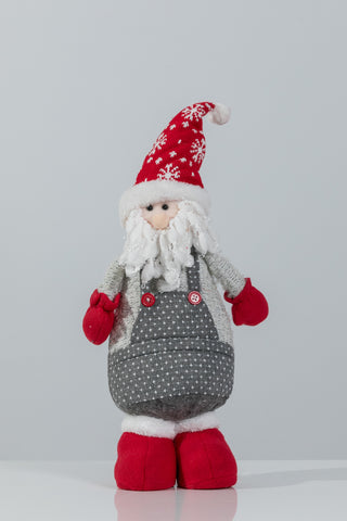 "18"" Red/Gray Standing Santa - Noel Collection"