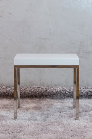 Lynn End Table High Gloss White - Casa Febus - Home • Design