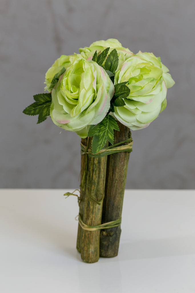 "12"" Modern Rose Bouquet Green - Casa Febus - Home • Design"