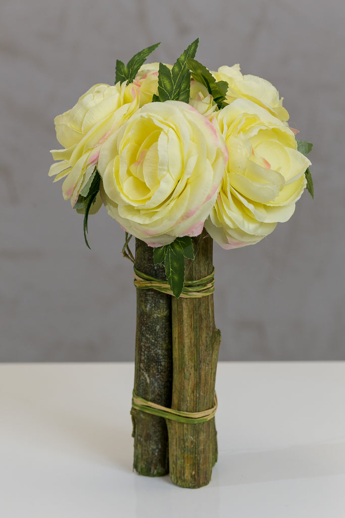 "12"" Modern Rose Bouquet Yellow - Casa Febus - Home • Design"