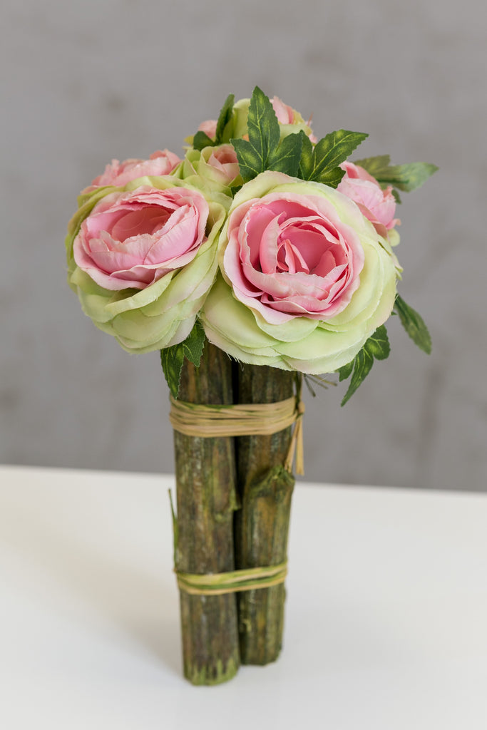 "12"" Modern Rose Bouquet Pink - Casa Febus - Home • Design"