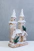"16"" Wooden Church - LED. Battery Operated"