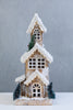 "18"" Wooden House - LED. Battery Operated"