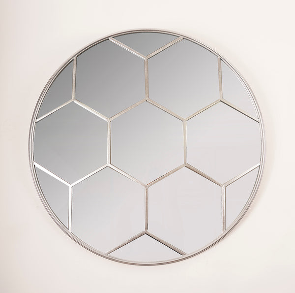Silver Hex Mirror - Metalle Collection