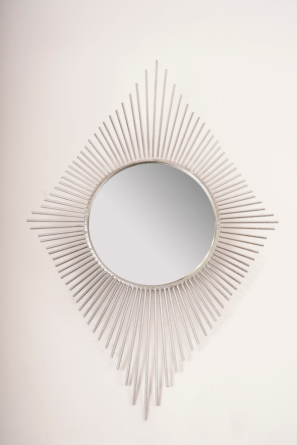 Silver Peruvian Diamond Mirror - Metalle Collection