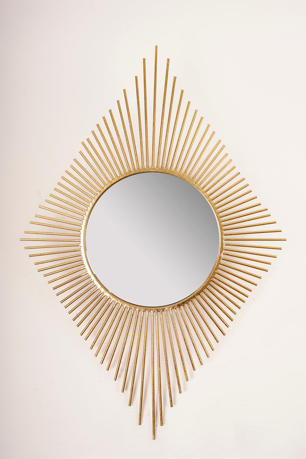 Gold Peruvian Diamond Mirror - Metalle Collection