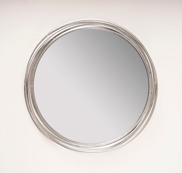 Silver Cercles Mirror - Metalle Collection