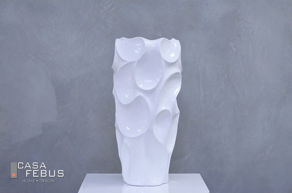 "28"" Metro White Planter - Casa Febus - Home • Design"