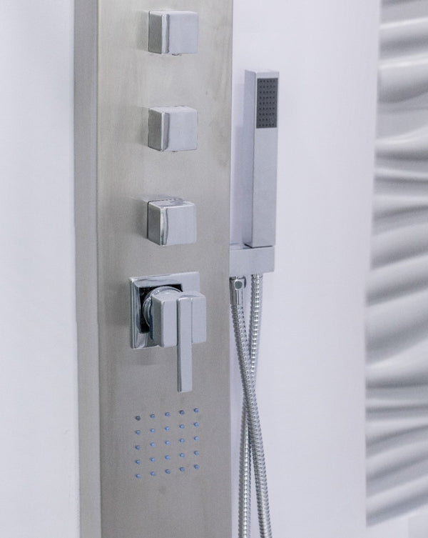 "Doccia Modern Shower w/ Stainless Steel Frame 87"" - Nouveau Collection"