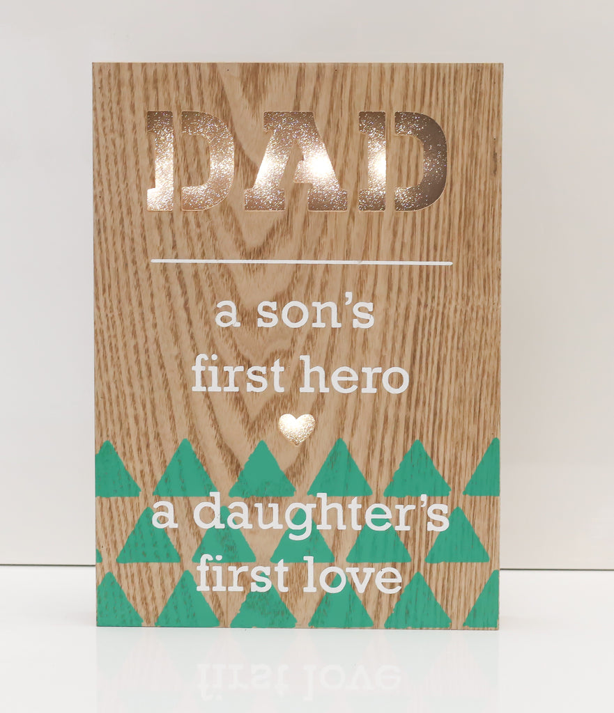 "12"" Dad - First Love Light Box - Battery Operated - Casa Febus - Home • Design"