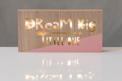 "12""  Light Box - Dream Big - Battery Operated"