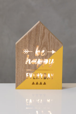 "10""  Light Box - Happy - Battery Operated"