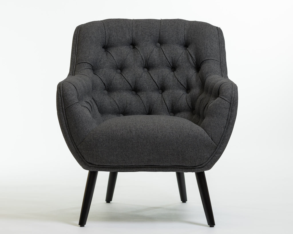 Hannah Arm Chair- Charcoal Gray