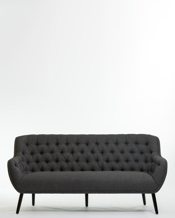 Hannah Three Seat Sofa - Charcoal Gray