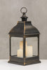 "20""H Bordeaux Dk. Copper Lantern w/ Set of 3 LED Candles - Wanderlust Collection"