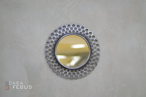 "16"" Reminiscence Round Mirror - Silver - Casa Febus - Home • Design"