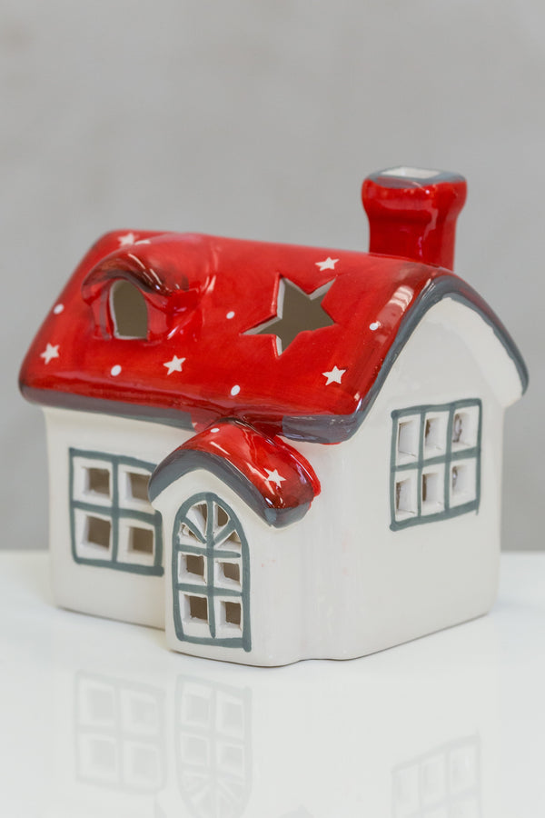 "Medium House Red/White Stars / 4.8""x4.1""x5"""