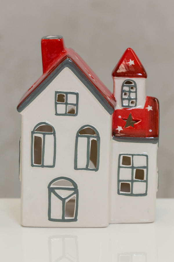 "Big House Red/White Stars / 5.3""x3.3""x6.9"""