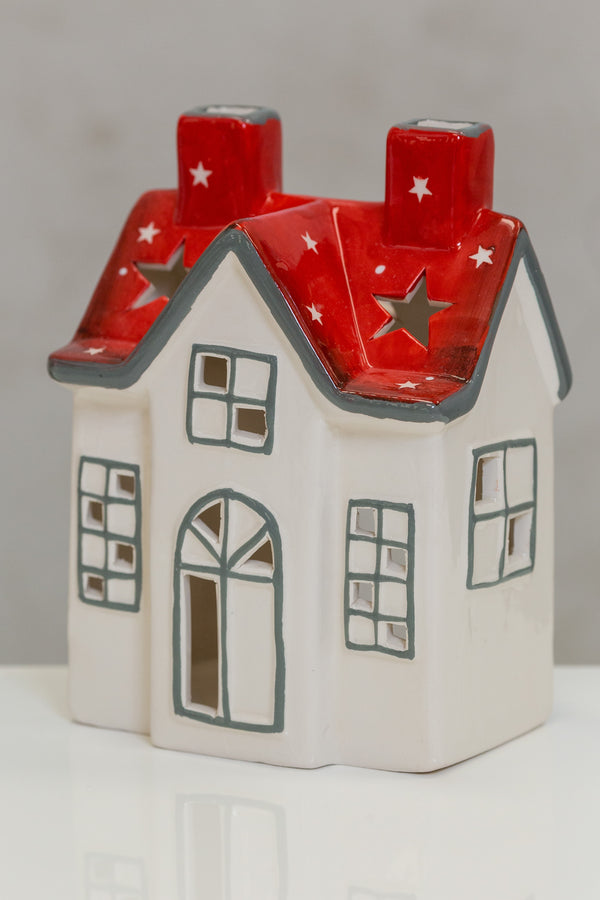 "Big House Red/White Stars / 5.2""x3.7""x6.9"""