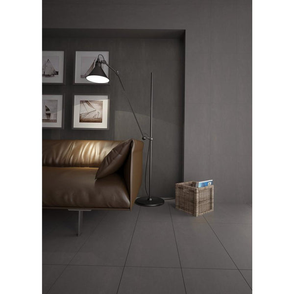 Dark Gray Polished Cement Finish Tile (8pc Box) - Nouveau Collection