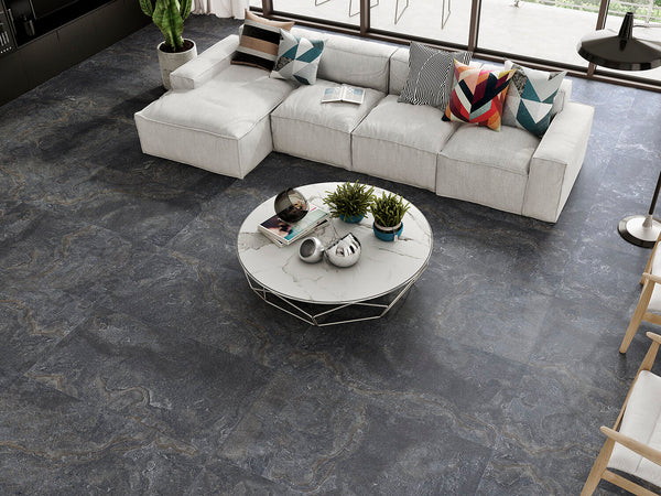 Gray Marble Finish Tile (2pc Box) - Nouveau Collection