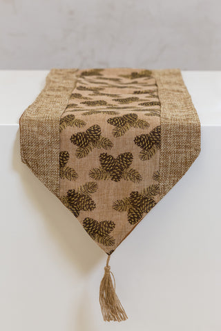 "13""x 72"" Natural Brown Table Runner"