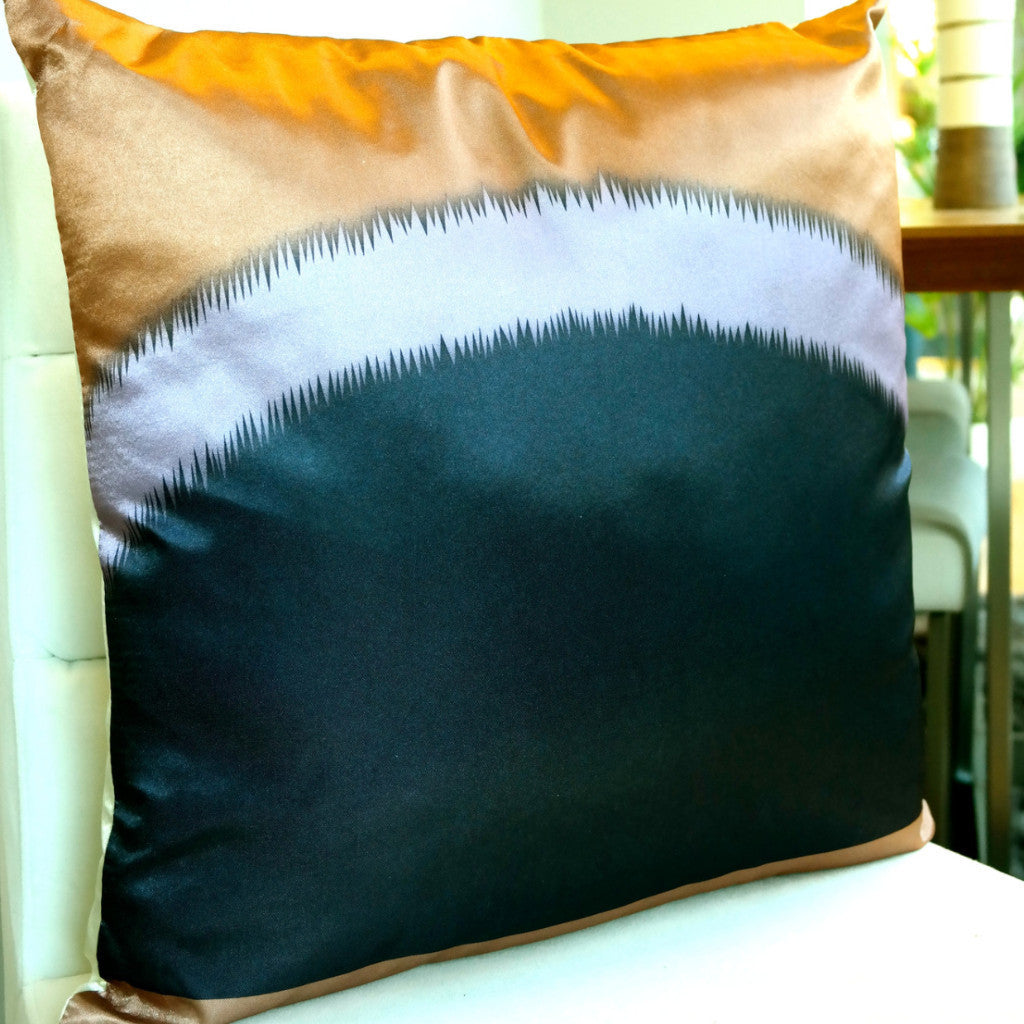 Suave Cushion-Brown, Cream and Purple - Casa Febus - Home • Design