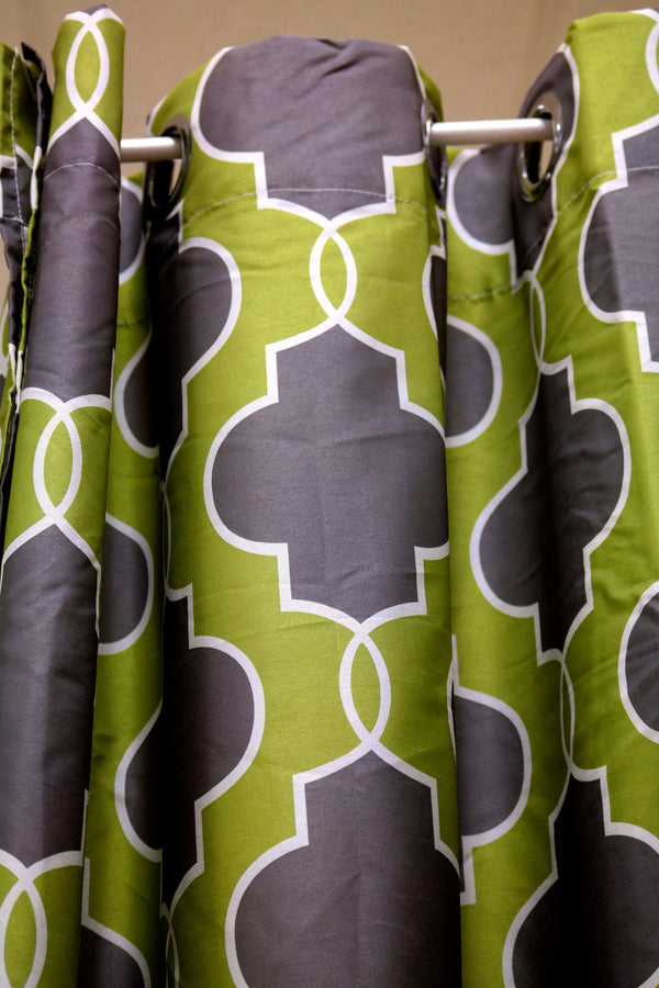 "Regal Curtain - Chatré Green  56"" x 96""H - Casa Febus - Home • Design"
