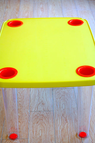 "HappyKids Children Table - Golden Yellow 23""H - Casa Febus - Home • Design"