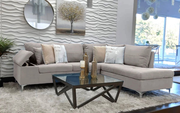 Daniele Sectional Right Side Sofa - Sand