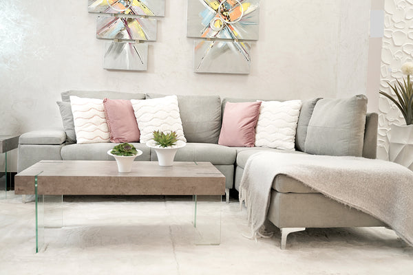 Daniele Sectional Right Side Sofa - Light Gray