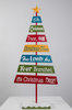 "47"" Colorful Xmas Tree Sign Decoration - Happy Christmas"
