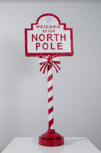 "48"" Welcome to the North Pole Decoration - Happy Christmas"