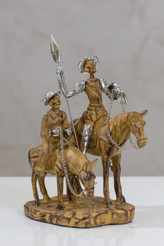"9.5"" Don Quijote & Sancho on Horse"