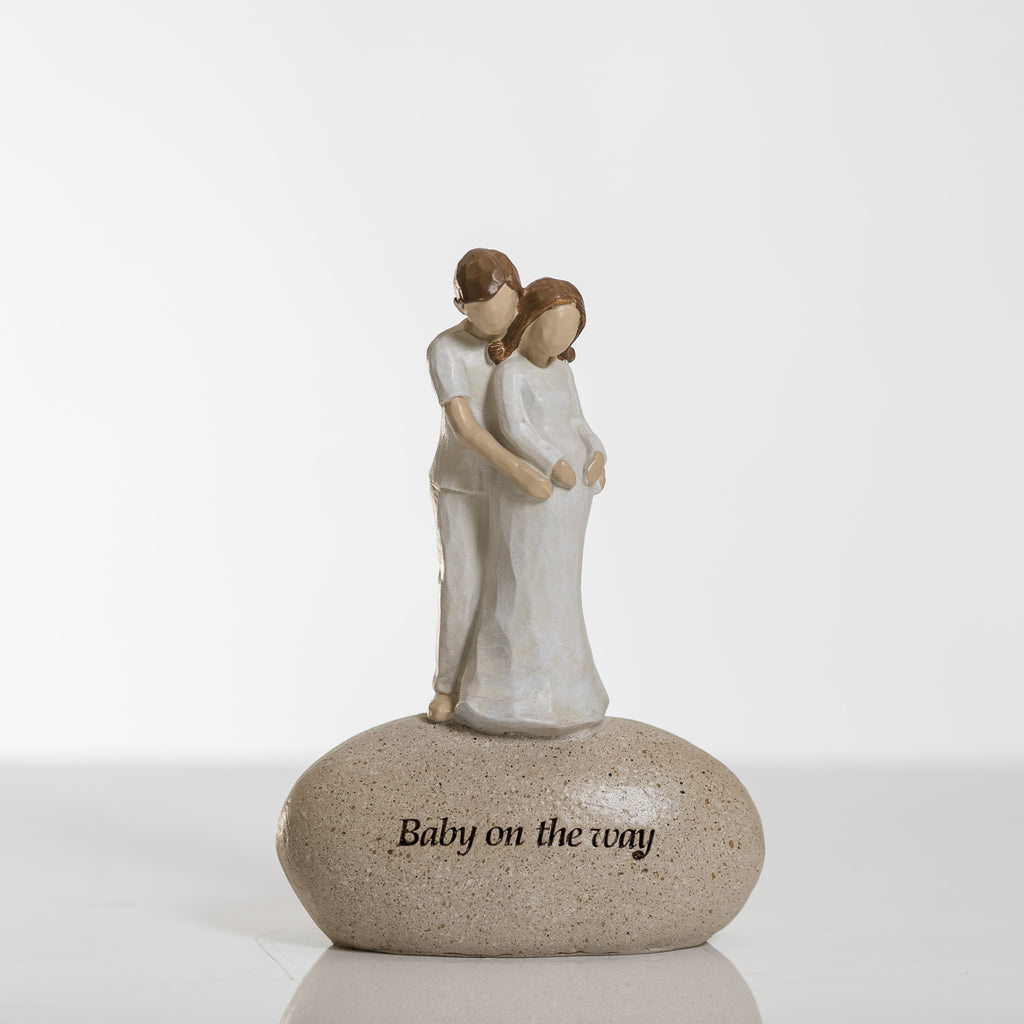 "7"" Baby on the Way Figurine - Pebble Collection"