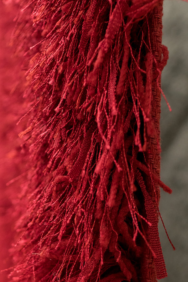 Cherry Red Shaggy Rug - 5' x 7'