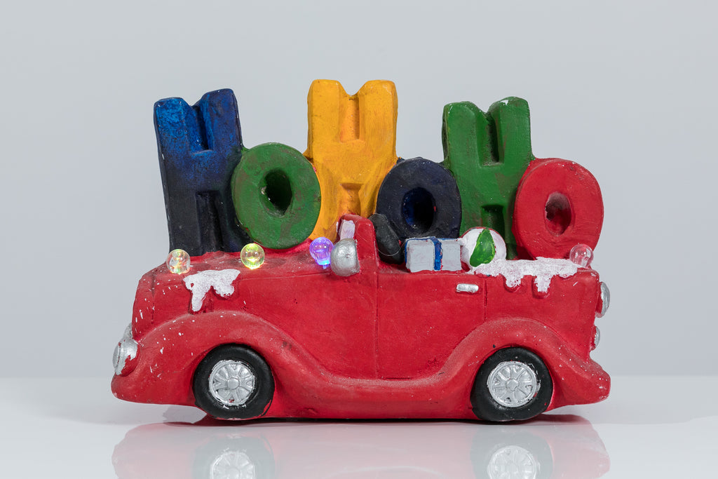 "12"" HO HO HO Car w/ LED Lights - Voiture Collection"
