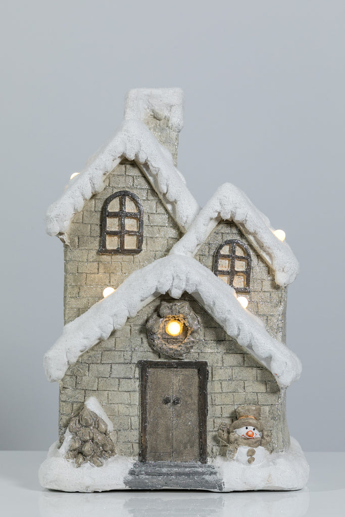 "18"" x 12"" House with LED Lights - Bright Collection"