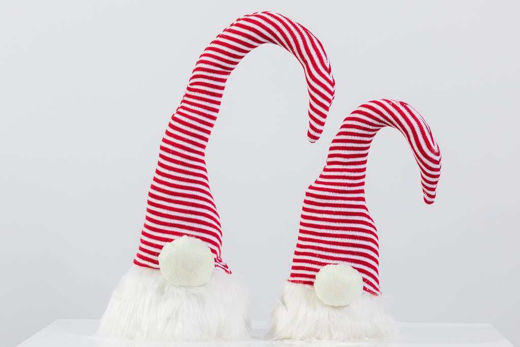 "22"" Red/White Stripes Santa Hat - Peppermint Collection"