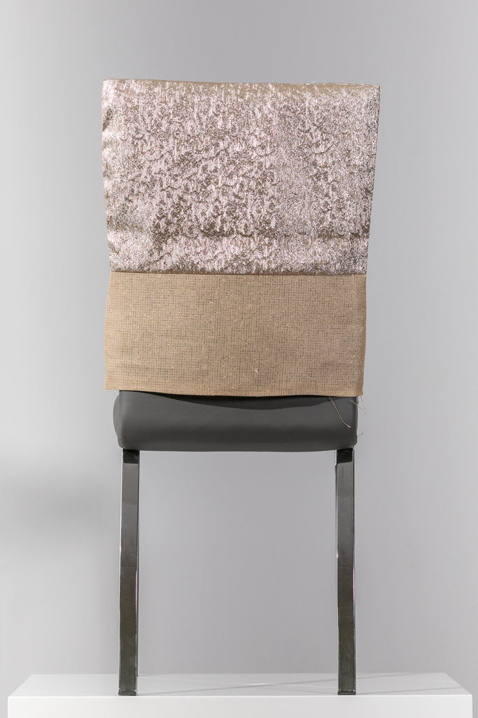 "18"" x 20"" Gold/Natural Chair Cover"