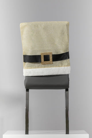 "18"" x 20"" Gold/White Chair Cover"