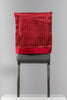"18"" x 20"" Red/Gold Chair Cover"