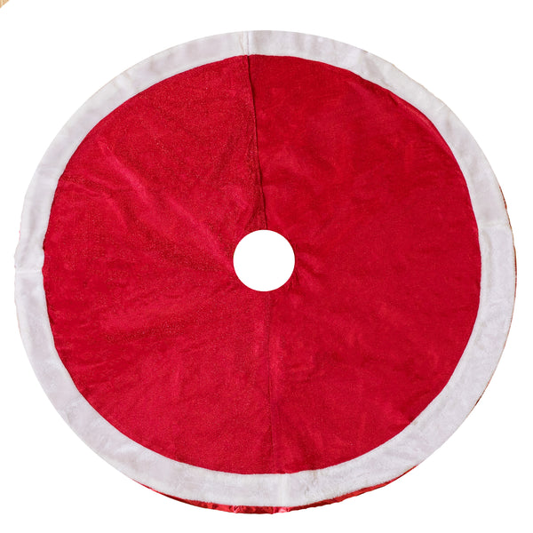"48"" Red/White Tree Skirt"