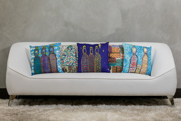 "18""x18"" Modern Three Kings I Pillow  by Susana Cacho"