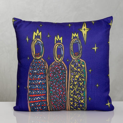 "18""x18"" Modern Three Kings II Pillow  by Susana Cacho"