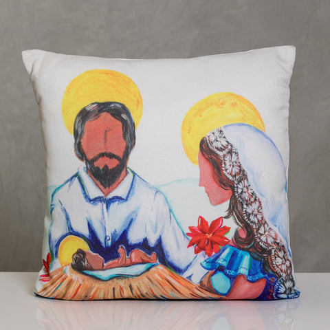 "18""x18"" Nacimiento Jibaro Pillow by Vivi.Kris"