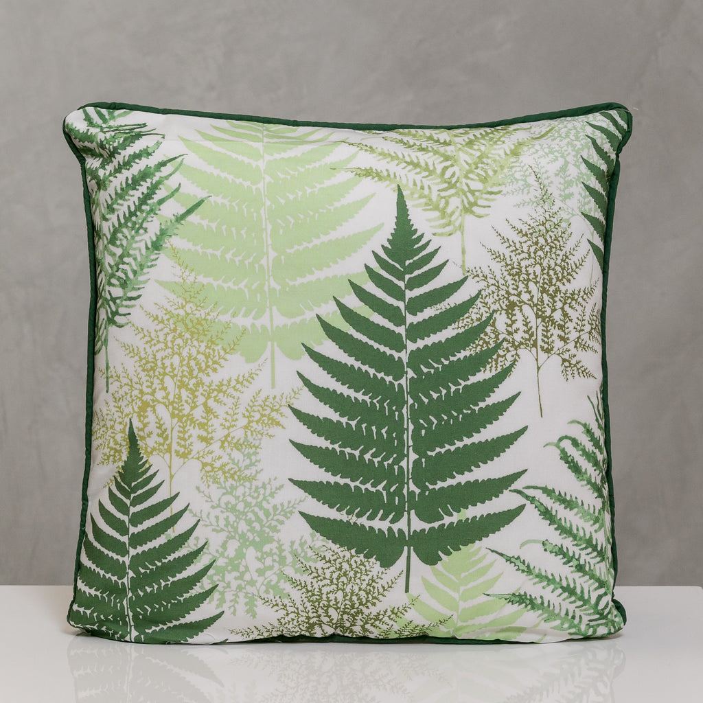 "18""x18"" Naturale Pillow - Fern Leaves"