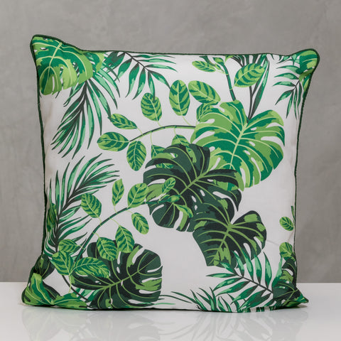 "18""x18"" Naturale  Pillow - Jungle Leaves"